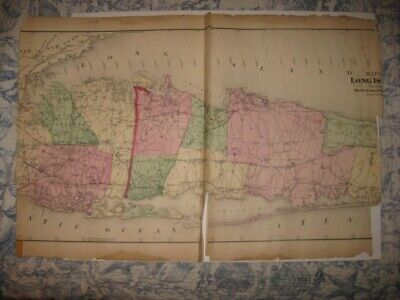 Map Of Quogue New York.Antique 1929 Southampton East Quogue Flanders Suffolk County New