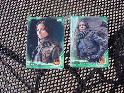 2016 Star Wars Rogue One Series 1 COMPLETE GREEN SQUADRON Parallel Set 90 Cards