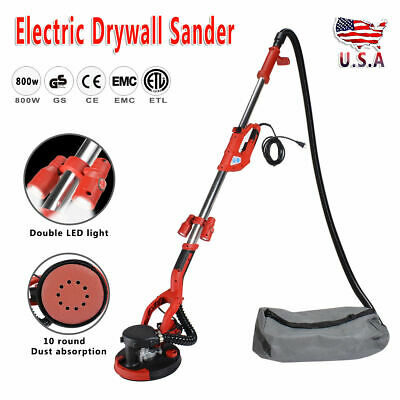Electric Drywall Sander 800W Adjustable Variable Speed with Vacuum and LED Light