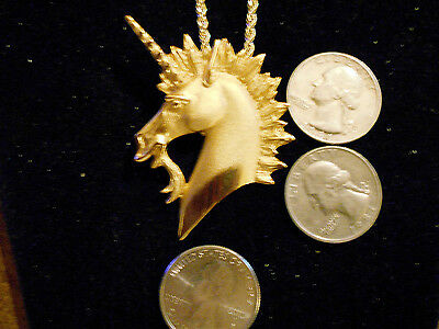 bling gold plated unicorn celtic myth stomehehge pendant charm necklace jewelry