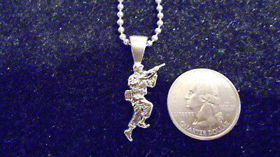 bling silver plated military army fashion PENDANT charm marine necklace JEWELRY