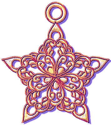 FANCY STARS 12 MACHINE EMBROIDERY DESIGNS CD or USB