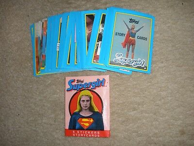 1984 Topps Supergirl  Sticker Trading Card Set 44 w/wrapper ExMt