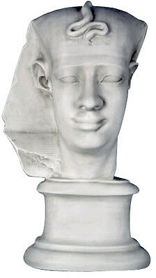 "Egyptian Pharaoh King 24"" Bust Sculpture Replica Reproduction"