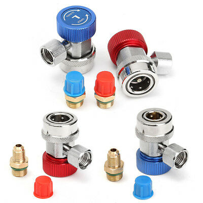 R134A High Low Quick Coupler Connector Adapters Type AC Manifold Gauge Auto