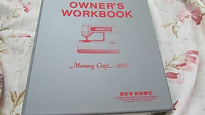 Janome Memory Craft 8000 ORIGINAL Owner's Workbook Binder EXCELLENT Pre-Own Cond