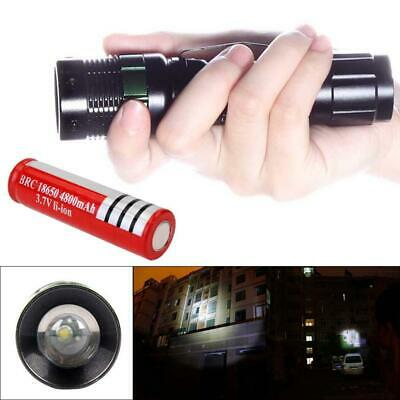 New 5000LM Zoomable    Q5 LED Flashlight Torch Lamp + 18650 Battery Hiking AE