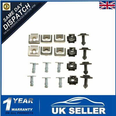 20 Engine Undertray Underbody Shield Clips & Fasteners Kit For Audi A3 A4 A6 A8