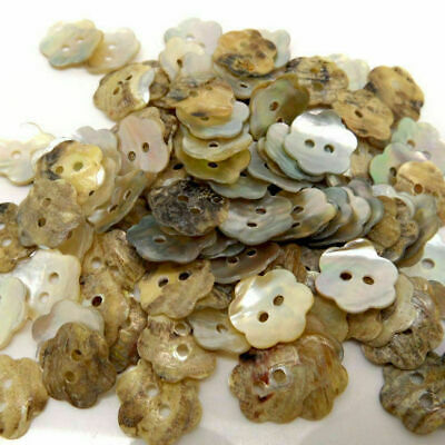 100Pcs Lot Flower Seashells Sewing Buttons 2-holes Scrapbooking DIY Crafts