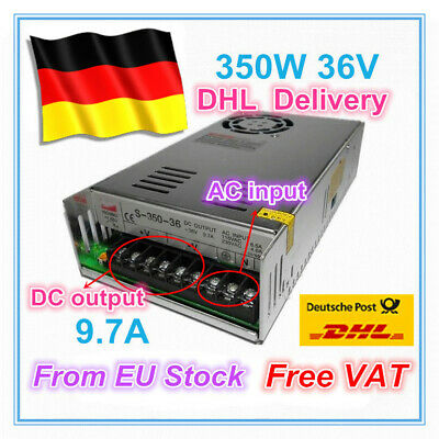 【DE】 36V 350W 9.7A DC Switching Power Supply for CNC Router/3D Printer/LED CCTV