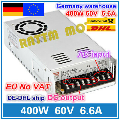 【DE】400W 60V 6.6A DC Switching Power Supply for Servo Motor/CNC Router/LED Strip