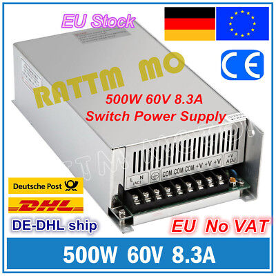 【DE】500W 60V 8.3A DC Switching Power Supply for Servo Motor/LED Strip/CNC Router