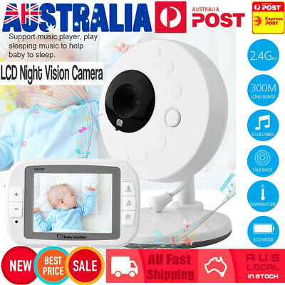 3.5'' LCD Digital Baby Monitor Audio Wireless Video Camera Night Vision Safety