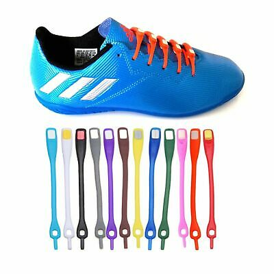 12X Elastic No Tie Shoe Laces Silicone Shoelaces For Adults &Kids Trainers Shoes