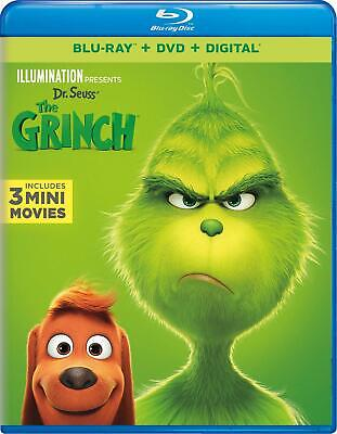 The Grinch 4K (1-Disc Blu-ray, 2019)+Slipcover.Dr. Seuss/How Stole Christmas S F
