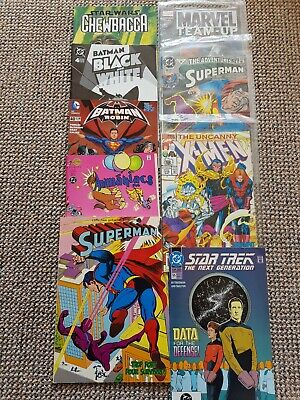 Selection Of 9 Comics Batman, Superman, X-men, Star Trek, Animaniacs, Star Wars