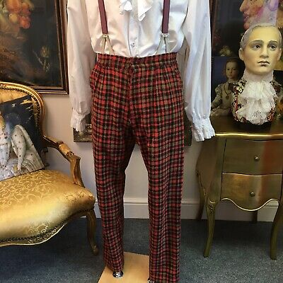 Very Dapper Men's Theatrical Victorian Style Trousers, Great Fabric..Top Item!!