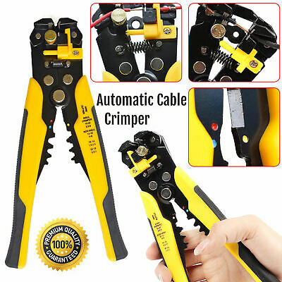 Automatic Cable Wire Crimper Crimpe DIY Hand Tool Stripper Adjust Plier Cutter