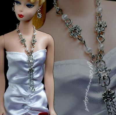 """Handmade doll jewelry set necklace earrings fits 11.5/"""" doll 560A"""