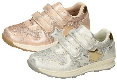 Girls Glitter Trainers Metallic Pumps Party Summer Sports Shoes Sneakers Size