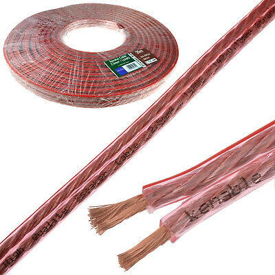 20m Speaker Cable 14AWG 2.5mm2 Thick CCA 142 x 0.15mm2 Wire Home HiFi Car Audio