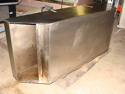 """Johnson Diversified Quiznos Style 54"""" Stainless Steel Exhaust Hood With Filters"""