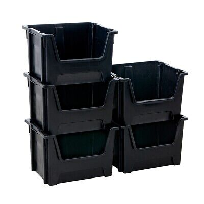 Plastic Stacking Storage Bins Order Picking Parts Boxes Open Front Stack Nest