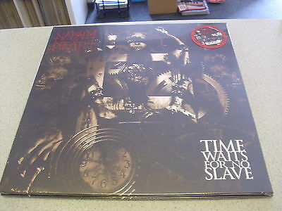 NAPALM DEATH - Time Waits For No Slave - LP RED Vinyl // New & Sealed // RSD