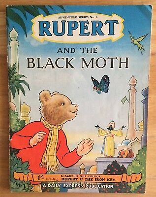 RUPERT Adventure Series 6 Rupert & The BLACK MOTH JULY 1950 FINE VG