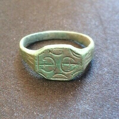 Ancient Big Bronze Ring Viking / Kievan Rus. Nise Patina
