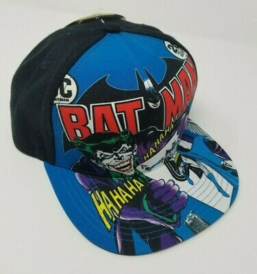 on sale e6c8e 084d3 DC Comics Originals Joker HaHaHa Batman Snapback Flat Brim Baseball Cap NWT