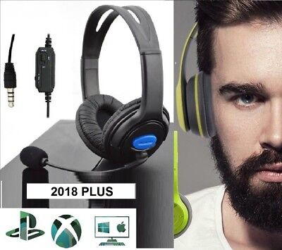 CUFFIE GAMING x PS4 PC XBOX ONE AURICOLARE CON MICROFONO E CONTROLLO VOLUME 2019