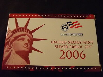 Collectible United States Coins: 2006 U.s. Mint 10-Piece Silver Proof Set W/cert