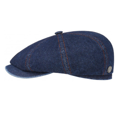 Stetson Hatteras Denim 8 Panel Bakerboy Cap Small to XX-Large