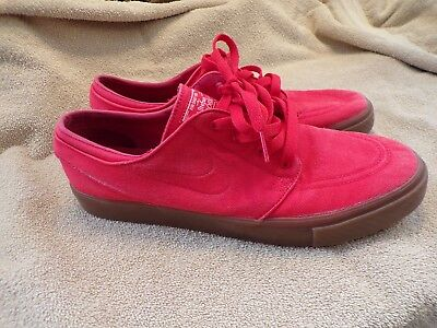 082ffb875 Nike Stefan Janoski Red Casual Canvas Athletic Shoes Mens Sz 11  Skateboarding