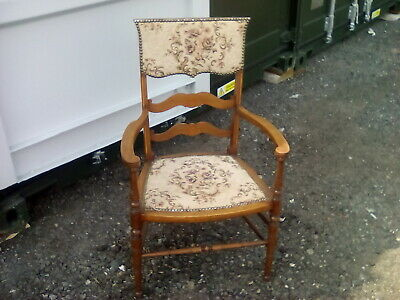 decorative original antique victorian/edwardian inlaid nursing armchair,elbow,..