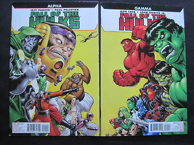 FALL of the HULKS : SET of 2 ISSUES, GAMMA & ALPHA. JOINING COVERS. 2010 MARVEL