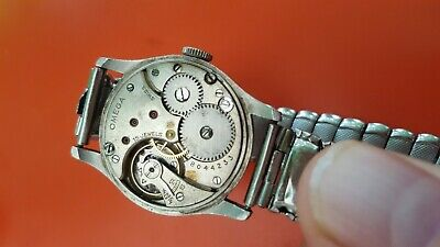 Rare Antique 1933 Year Omega   Man Steel Watch.working Order 26.5 S0B T.1