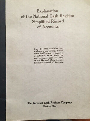 VINTAGE Explanation of the National Cash Register Simplified Record of Accounts