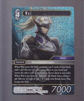 Final Fantasy TCG (FFTCG) Wol Warrior of Light PR-032/5-146H FOIL PROMO