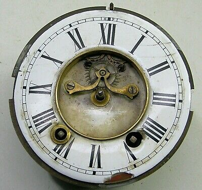 Antique French Open Escapement Mantel Shelf Clock Movement Dial Parts