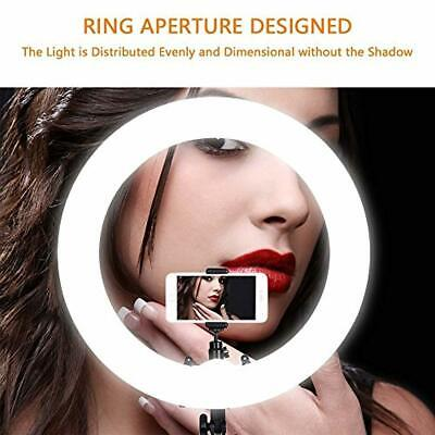 18 Inch Ring Light 48CM 55W 240 Bulbs LED Ringlight Dimmable Round Cont