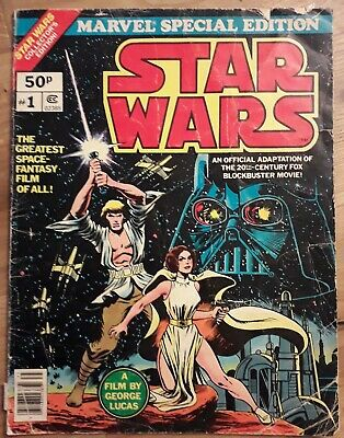 STAR WARS #1 / Marvel Special Edition 1977 BRONZE AGE / Large Collectors Ed / G-