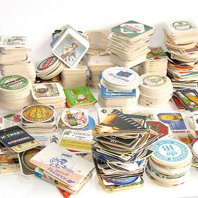 1200+ Vintage Pub Cafe Beer Drink Mats Coaster Breweriana (Man Cave) MEGA BUNDLE