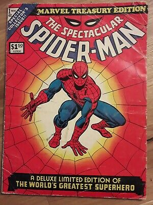 SPECTACULAR SPIDER-MAN #1 Vol 1 Large Format MARVEL TREASURY EDITION 1974 / VG-