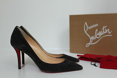 info for 6603b 08b29 NEW SZ 6 / 36 Christian Louboutin Apostrophy Grey Suede Pointed toe Pump  Shoes