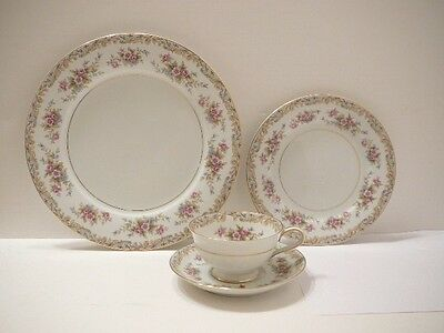 Vintage Noritake China 4 Pc Place Setting Somerset Dinner Salad Plate Cup Saucer