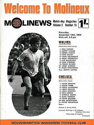 Football Programme>WOLVES v CHELSEA Dec 1969
