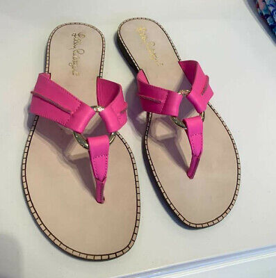95f825d0d NEW LILLY PULITZER Sandals Size 9 FIT TO BE TIED GLADIATOR Gold ...