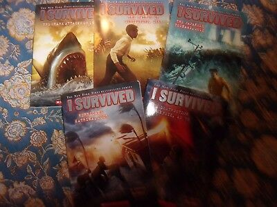 I SURVIVED Series By Lauren Tarshis LOT of  5 Children's Chapter Books  LOTF